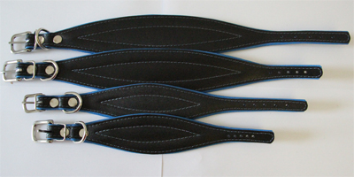 leather fishtail collar