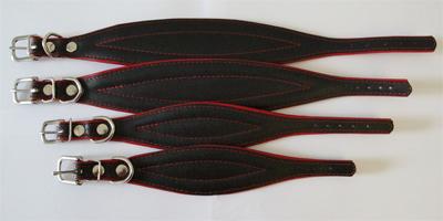 leather fishtail collar