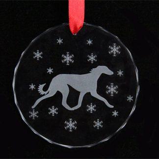 saluki ornament